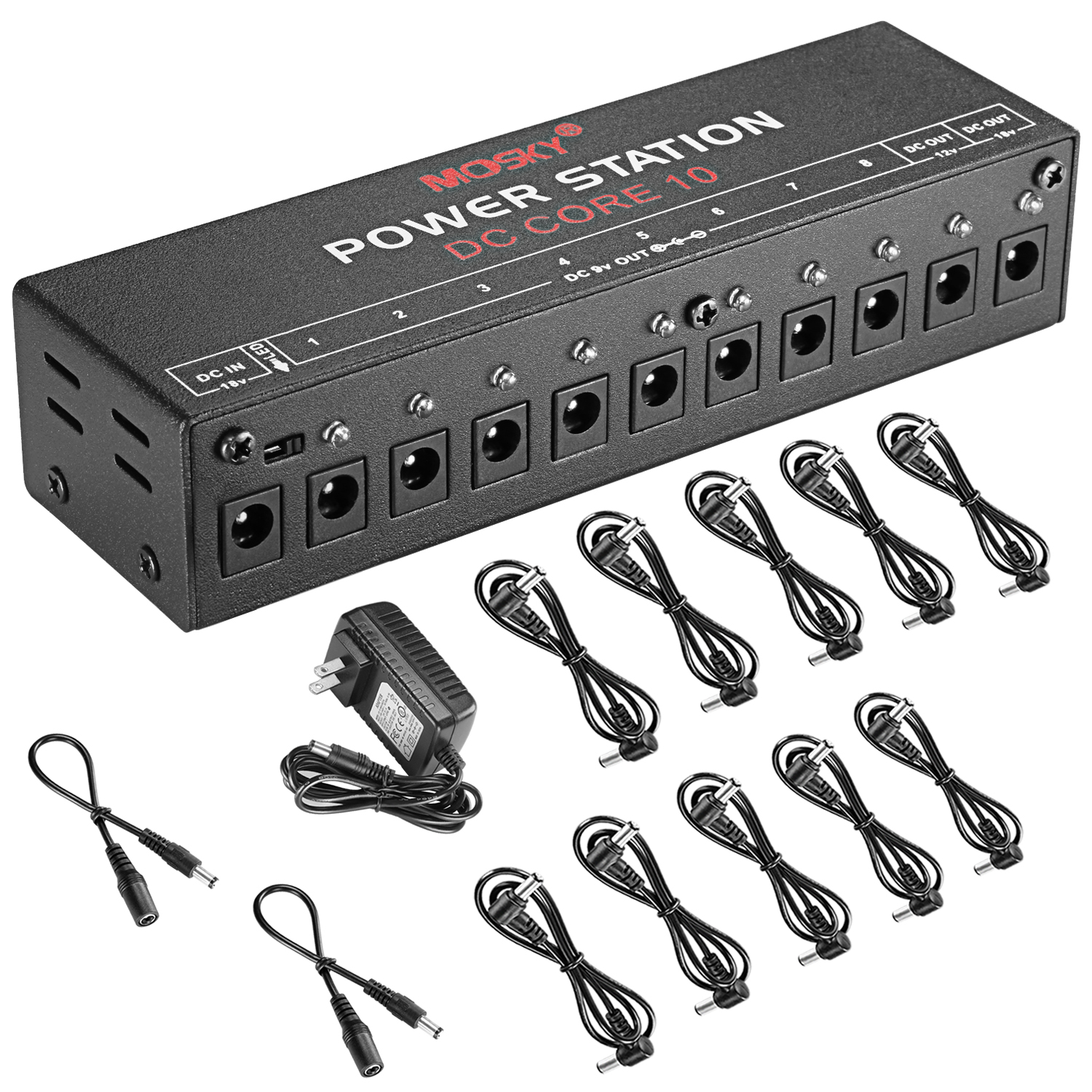 Mini Guitar Effect Pedal Delay Dc Power Supplies Introduction 1 Pc Supply Core10 1pcs Adapter 18v 1a Useuuk Plug 10pcs Cables 50cm 2pcs Polarity Reversal